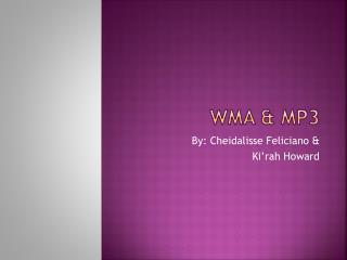WMA & MP3
