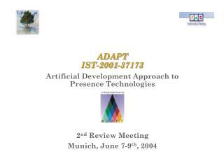 ADAPT IST-2001-37173