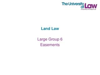 Implied Easements  Easements by Necessity