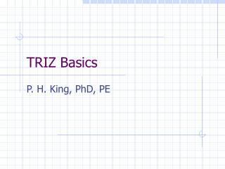 TRIZ Basics