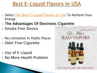 Best E-Liquid Flavors In USA