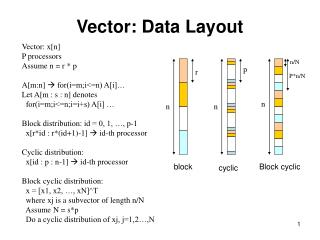 Vector: Data Layout