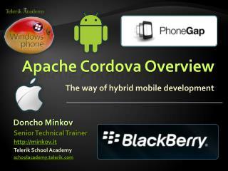 Apache Cordova Overview