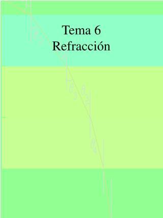 Tema 6 Refracci�n