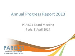 Annual Progress Report 2013