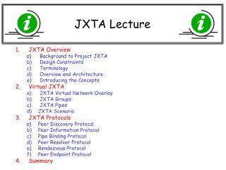 JXTA Lecture