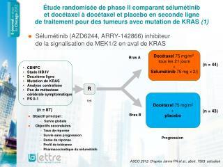 Sélumétinib (AZD6244, ARRY-142866) inhibiteur  de la signalisation de MEK1/2 en aval de KRAS