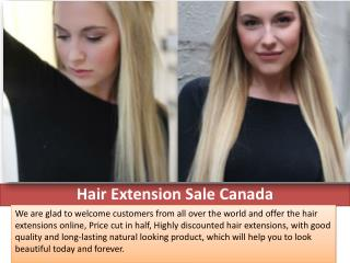 Hair Extension Sale Canada