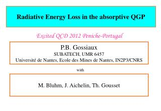 Radiative  Energy Loss in the absorptive QGP