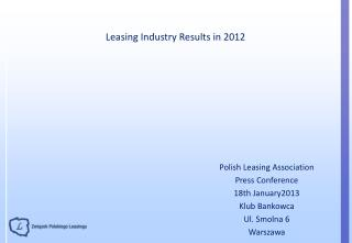Leasing Industry Results in 2012