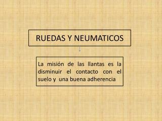 RUEDAS Y NEUMATICOS