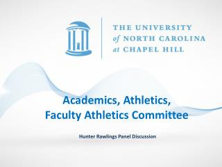 Academics, Athletics,  Faculty Athletics Committee
