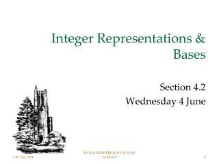 Integer Representations & Bases