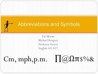 Abbreviations and Symbols