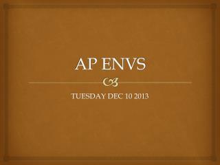 AP ENVS