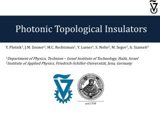 Photonic Topological Insulators