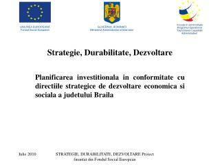 Strategie, Durabilitate, Dezvoltare