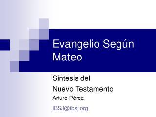 Evangelio Según Mateo