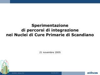 Sperimentazione  di percorsi di integrazione  nei Nuclei di Cure Primarie di Scandiano