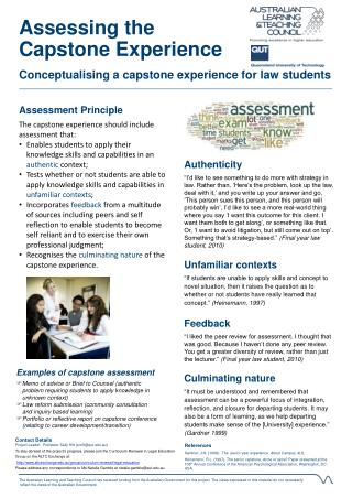 Assessing the Capstone Experience