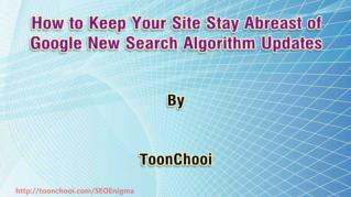 ppt 42078 How to Keep Your Site Stay Abreast of Google New Search Algorithm Updates
