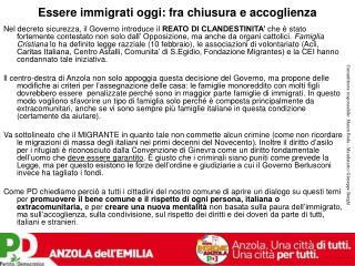 Essere immigrati oggi: fra chiusura e accoglienza