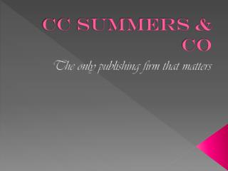 CC Summers & Co