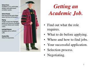 Getting an Academic Job.