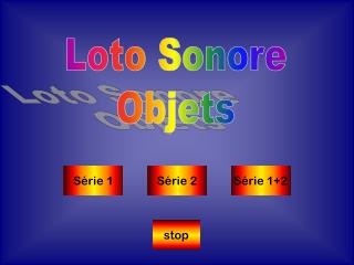 Loto Sonore Objets
