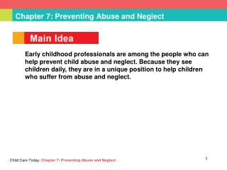Chapter 7: Preventing Abuse and Neglect