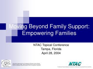 Moving Beyond Family Support: Empowering Families