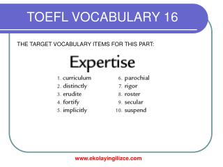 TOEFL VOCABULARY 16