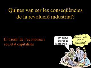 Quines van ser les conseqüències de la revolució industrial?