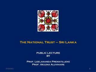 The National Trust � Sri Lanka