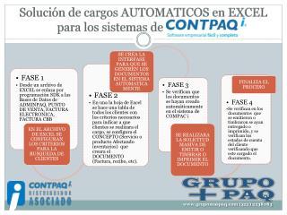 Solución de cargos AUTOMATICOS en EXCEL para los sistemas de      Contpaqi .