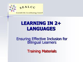 LEARNING IN 2 LANGUAGES