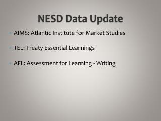 NESD Data Update