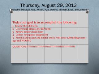 Thursday, August 29, 2013