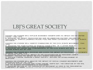 LBJ's  Great Society