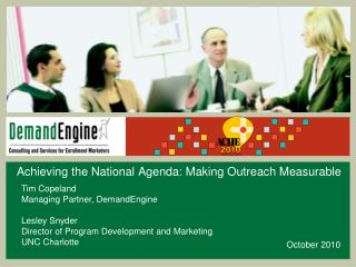 Achieving the National Agenda: Making Outreach Measurable