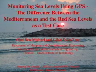 Monitoring Sea Levels Using GPS -