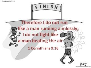 1 Corinthians 9:26