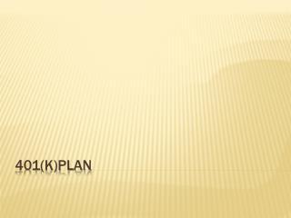 401(K)Plan