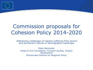 Commission proposals for Cohesion Policy 2014-2020