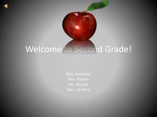 Welcome to Second Grade!