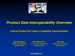Product Data Interoperability Overview Critical Context for Today's Capability Demonstration