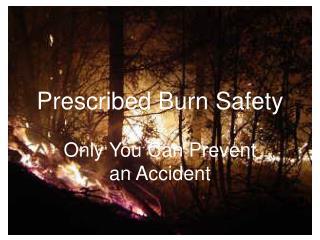 Prescribed Burn Safety