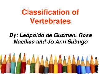Classification of Vertebrates