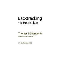 Backtracking mit Heuristiken