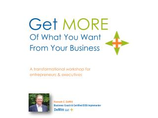 A transformational workshop for entrepreneurs & executives